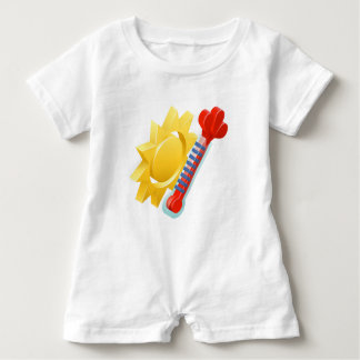 Sun and Thermometer Weather Icon Concept Baby Romper