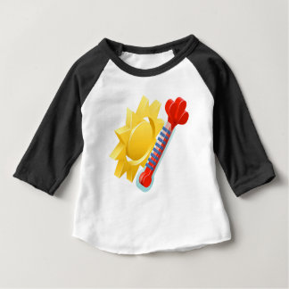 Sun and Thermometer Weather Icon Concept Baby T-Shirt