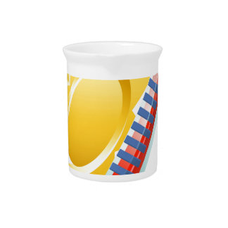 Sun and Thermometer Weather Icon Concept Pitcher