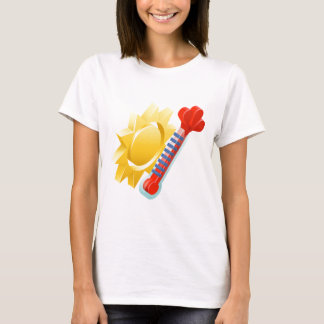 Sun and Thermometer Weather Icon Concept T-Shirt