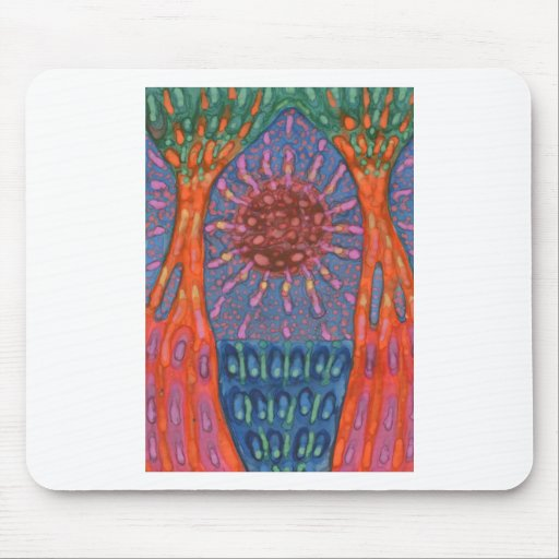 Sun And Trees Mouse Pad