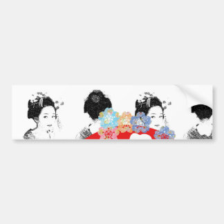 Sun and warrior and dance 妓 car bumper sticker