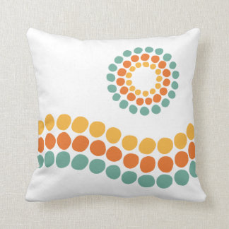 Sun and Waves cushion. Throw Pillow