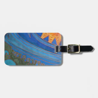 Sun and Waves Tags For Bags
