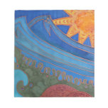 Sun and Waves Memo Notepad