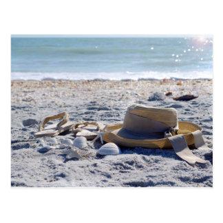 Sun, arena, playa, vacaciones tarjeta postal
