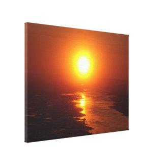 Sun ártico impresiones en lienzo estiradas