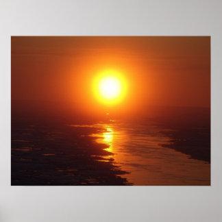 Sun ártico póster