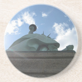 Sun at Statue Drink Coasters
