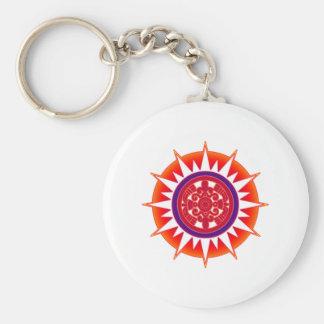 Sun azteca llaveros