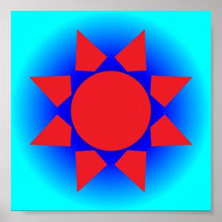 Sun azteca póster