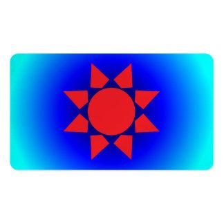 Sun azteca tarjetas de visita