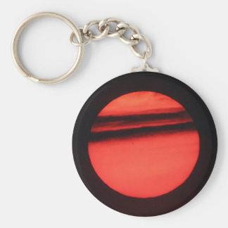 Sun Basic Round Button Keychain