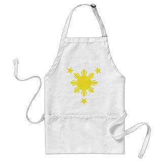 Sun básico filipino y estrellas - amarillo delantales
