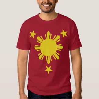 Sun básico filipino y estrellas - amarillo polera