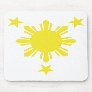 Sun básico filipino y estrellas - amarillo alfombrillas de raton