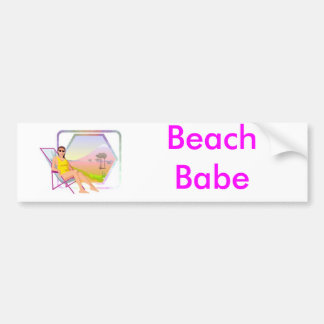 Sun bather car bumper sticker
