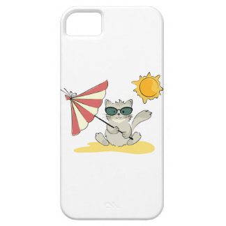 Sun Bathing Cool Cat iPhone 5 Cover