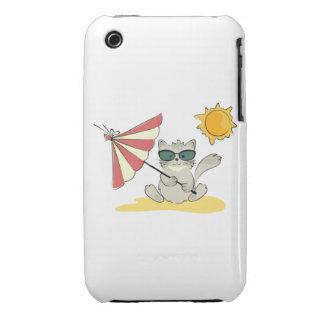 Sun Bathing Cool Cat iPhone 3 Cases
