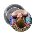 Sun Bathing Pinback Button
