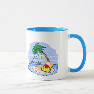 Sun Bathing Santa hawaiian xmas tee 5 Mug
