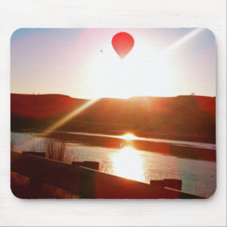Sun beam, Hot air balloon Mouse Pad