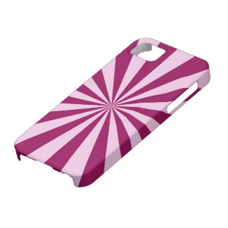 Sun Beams in Pink and Cerise iPhone 5 Barely There iPhone SE/5/5s Case