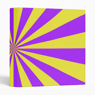 Sun Beams in Violet and Yellow Binder