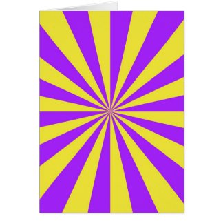Sun Beams in Violet and Yellow Card