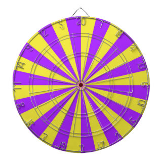 Sun Beams in Violet and Yellow Dartboard