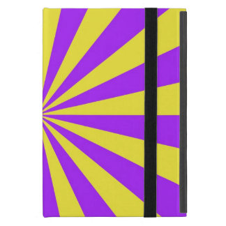 Sun Beams in Violet and Yellow iPad Mini Case