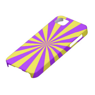 Sun Beams in Violet and Yellow iPhone 5 iPhone SE/5/5s Case