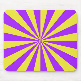 Sun Beams in Violet and Yellow Mousepad