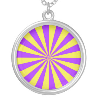 Sun Beams in Violet and Yellow Necklace