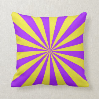Sun Beams in Violet and Yellow Pillows