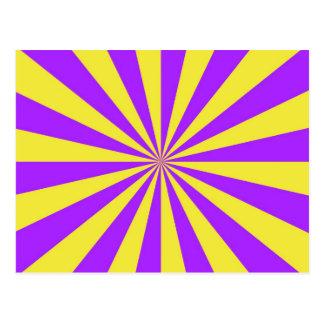 Sun Beams in Violet and Yellow Postcard