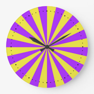 Sun Beams in Violet and Yellow Wall Clock