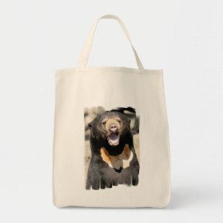 Sun Bear Grocery Tote Bag