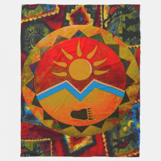 Sun Bear Native American Symbol Fleece Blanket