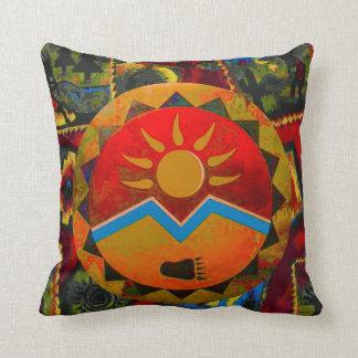 Sun Bear Native American Symbol Pillow