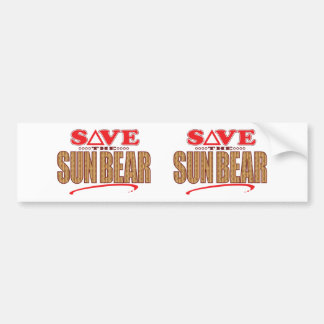 Sun Bear Save Bumper Sticker