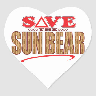 Sun Bear Save Heart Sticker