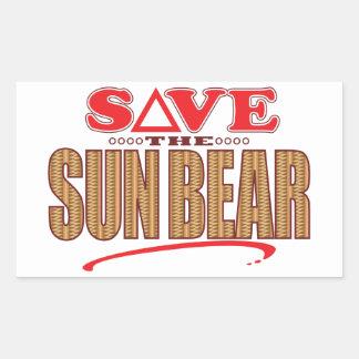Sun Bear Save Rectangular Sticker