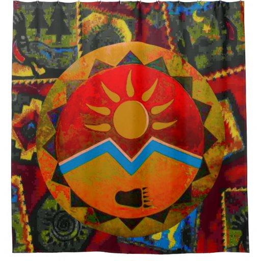Zazzle Sun Bear Shower Curtain