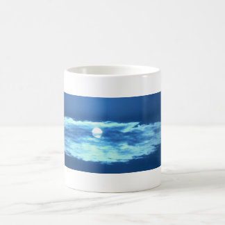 sun behind cloud coffee mug