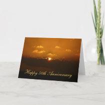 Sun Behind Clouds Anniversary Card