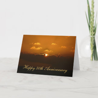 Sun Behind Clouds Anniversary Card