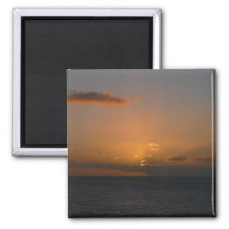 Sun Behind Clouds II Seascape Photography Magnet