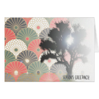 Sun behind tree.. card