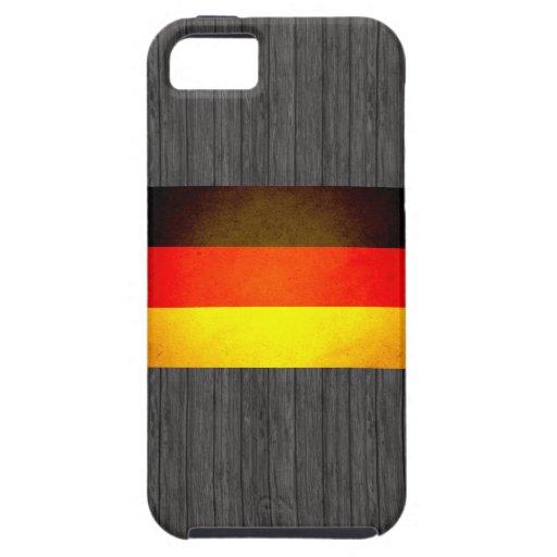 Sun besó la bandera de Alemania iPhone 5 Case-Mate Carcasa